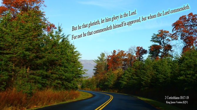 2 Corinthians 10:17-18