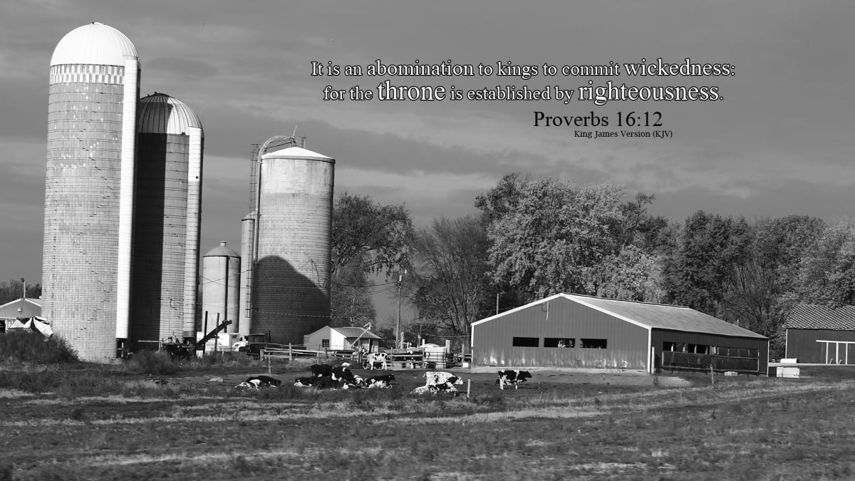 Proverbs 16:12