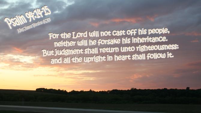 Psalm 94:14-15